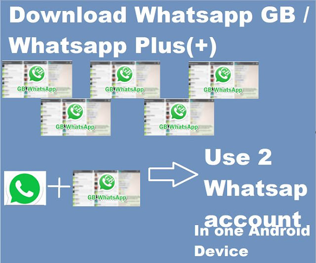 Download Whatsapp GB :Use 2 whatsapp in one android device Free