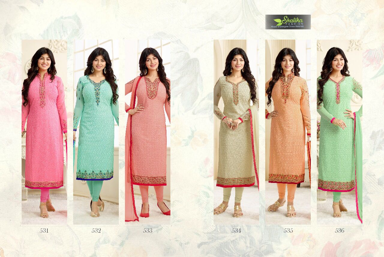 ADAA VOL-3 – Designer Semi Stitched Georgette Salwar Suit