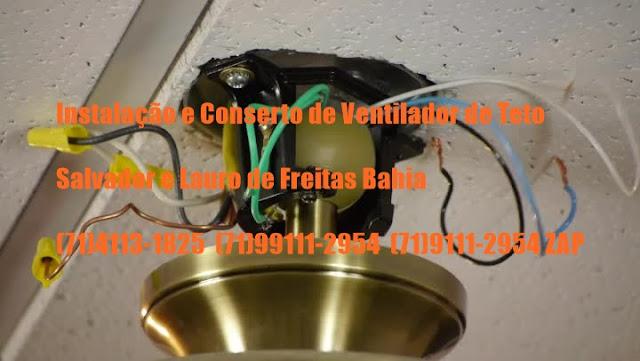 Ventilador de Teto Balançando ou Fazendo Barulho (71)99111-2954