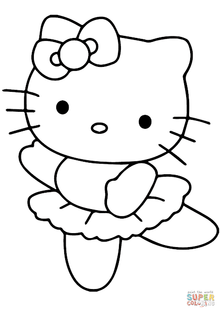 Click The Hello Kitty Ballerina Coloring Pages To View Printable Version Or  Color It Online Patible With Ipad And Android Tablets