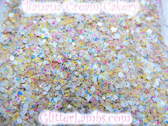 "Glitter Lambs ""Banana Cream Cakery"" Nail Polish And Loose Glitter Mix"