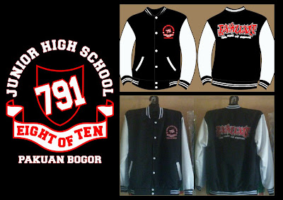 Jaket Baseball SMP PUTRA PAKUAN 791 BOGOR / jaket baseball bandung