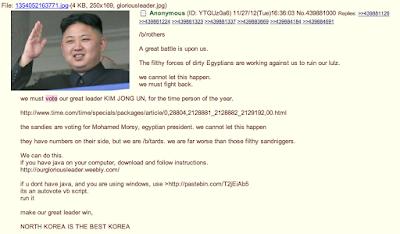Troleo 4chan Kim Jong Un persona del año revista Time