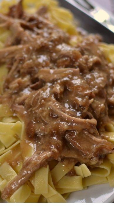 Crock Pot Pork & Noodles