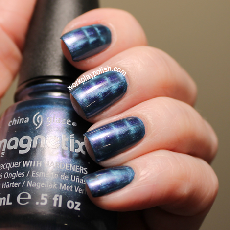 China Glaze Magnetix II Sparks Will Fly with checked magnet