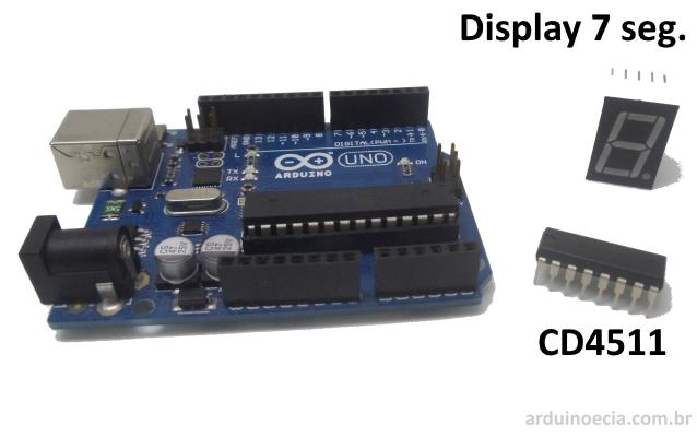 CD4511 com Arduino