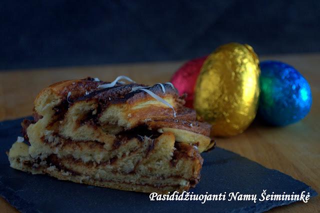 RECEPTAS: Estiška pynė (kringel) su šokoladiniu kremu