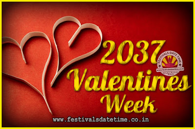 2037 Valentine Week List : 2037 Valentine Week Schedule, Hug Day, Kiss Day, Valentine's Day 2037