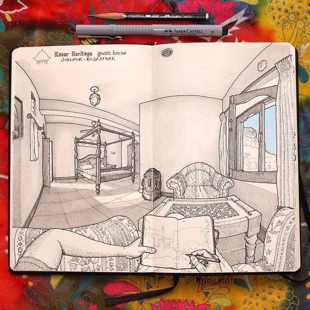 08-Rajasthan-India-LG-Feliu-Interior-Design-Travel-Diary-Drawings-www-designstack-co