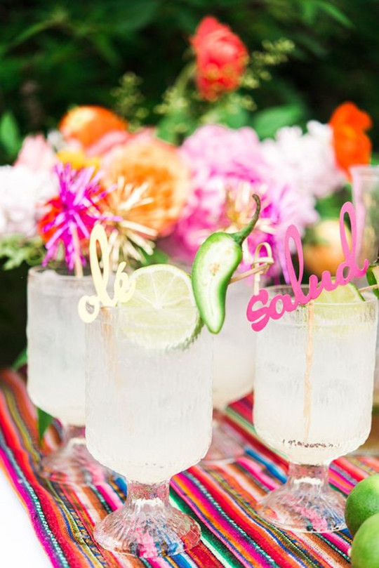 Cinco de Mayo wedding cocktails for rehearsal dinner