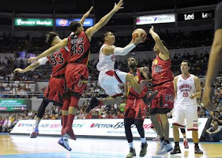 L.A Tenorio tears SMB defense for a Lay Up