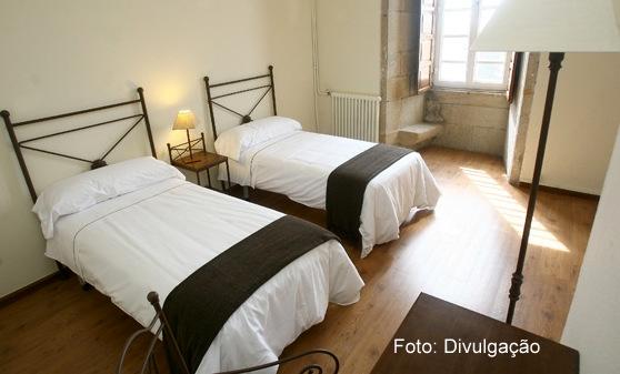 Apartamento duplo da Hospedaria San Martin Pinário, em Santiago de Compostela