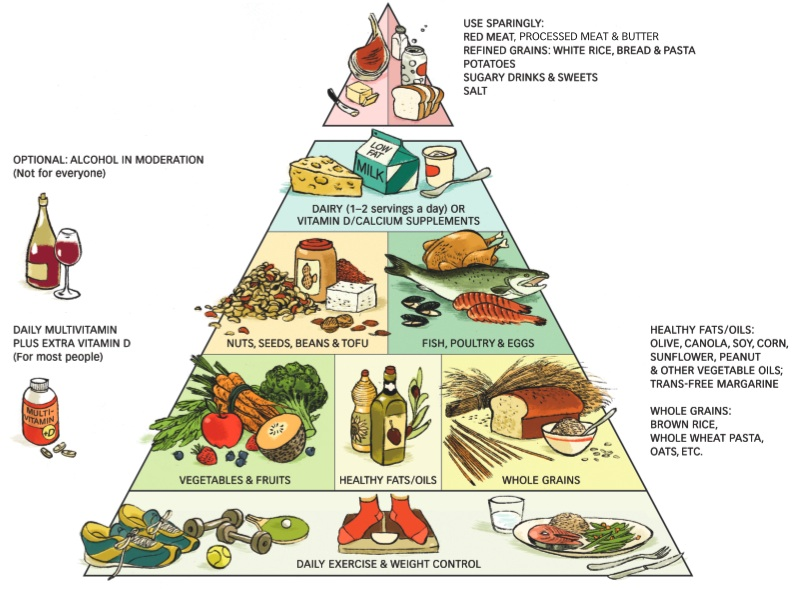 Eating Right Everyday Food Pyramid