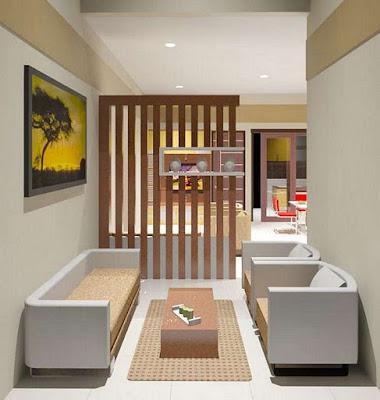 desain sekat ruang tamu minimalis