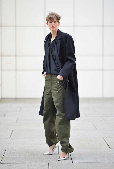 army pants, utility pants, metallic shoes, fall 2016, street style, spring 2016, trends, fashion week, NYFW, PFW, LFW, new york fashion week, paris fashion week, london fashion week