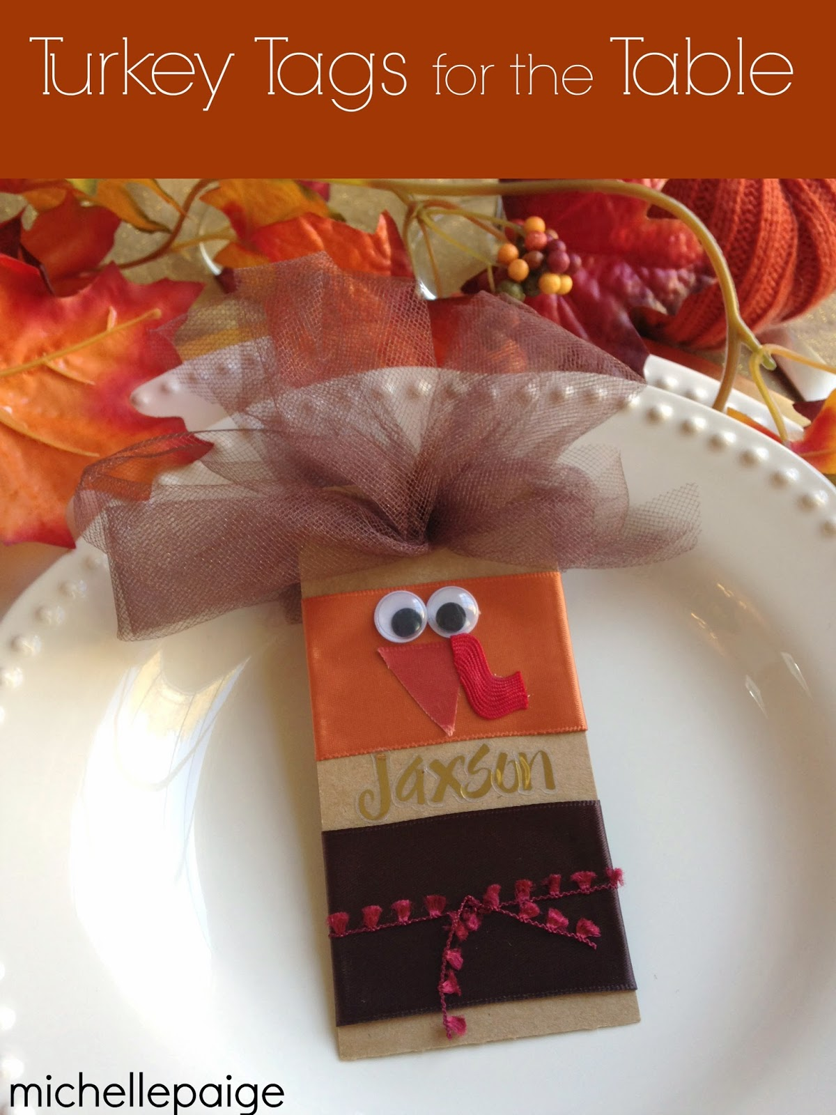 Turkey Tags for the Table