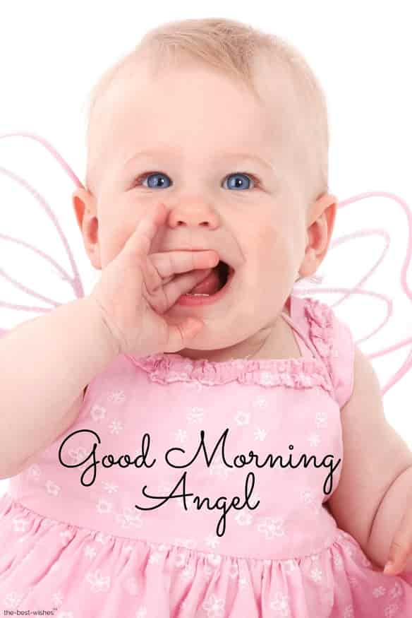 good morning baby angel pictures