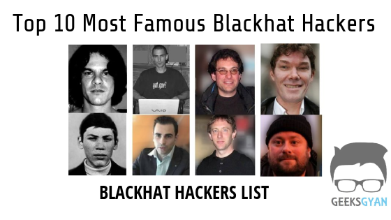 Top 10 Most Famous Blackhat hackers - Notorious