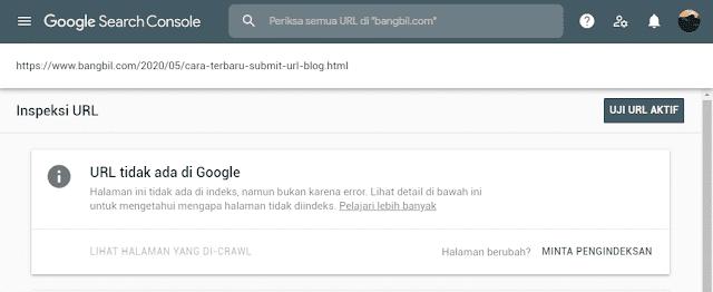 Cara Submit URL Blog