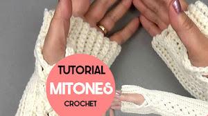 Mitones o Guantes sin Dedos a Crochet / Tutorial