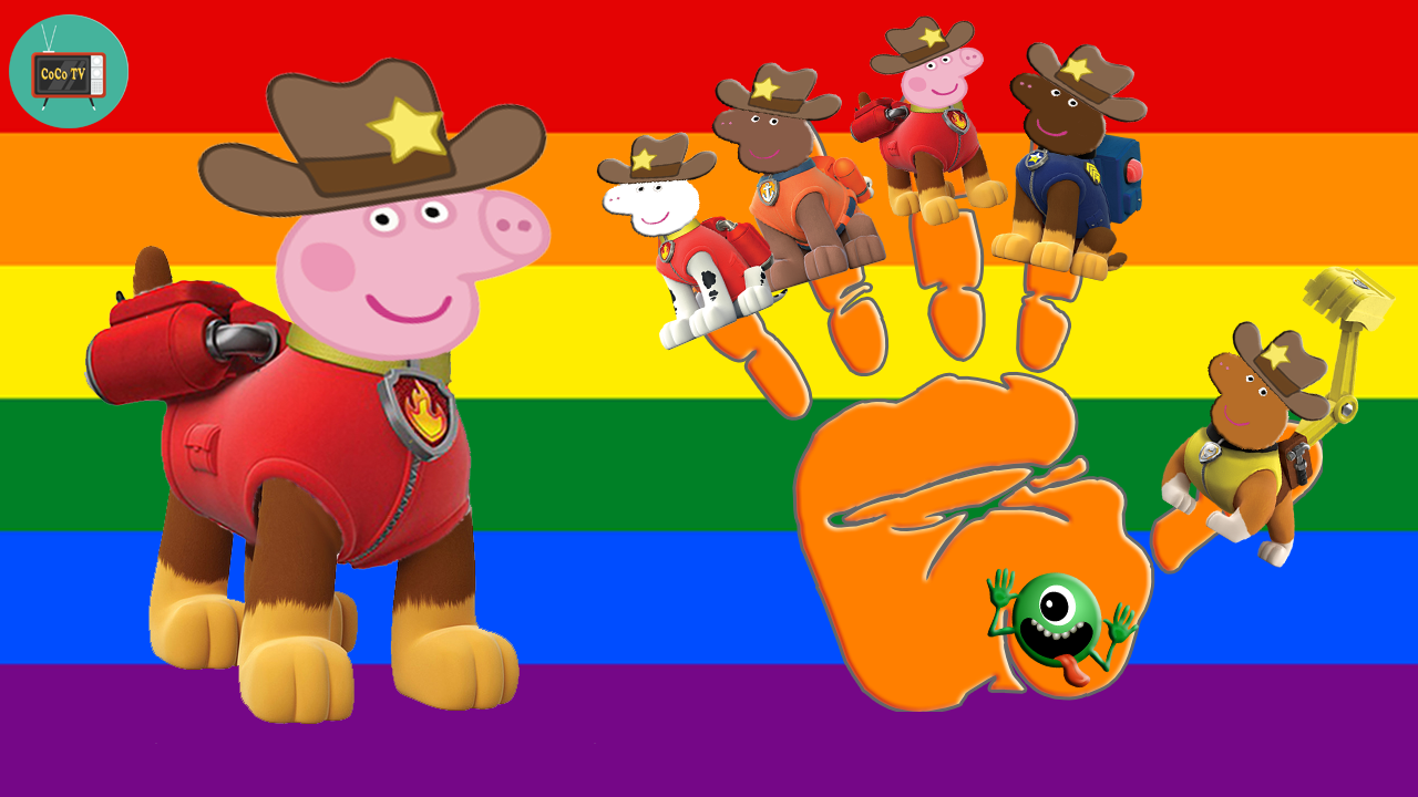 Finger Family Peppa Pig Paw Patrol
