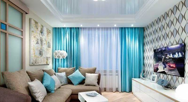 Classy window curtains for living room along with living room tv wall decoration ideas