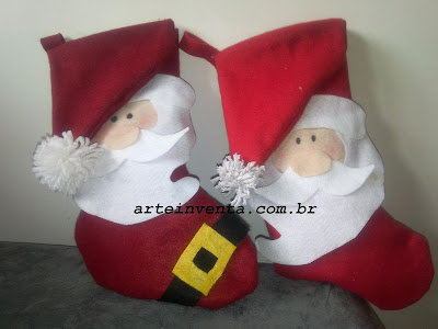 Bota do Papai Noel Com Moldes