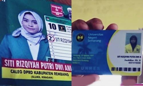 Biodata Siti Rizqiyah Putri Dwi Ani Si Mahasiswi Unnes Jadi DPRD Termuda