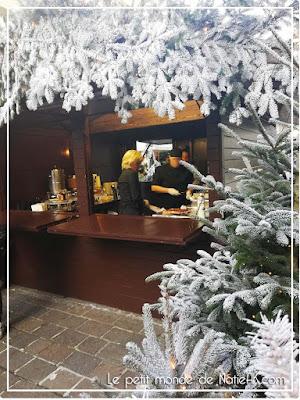 ambiance de Noël au Bar à chocolat de Hugo & Victor au Jardins du Marais