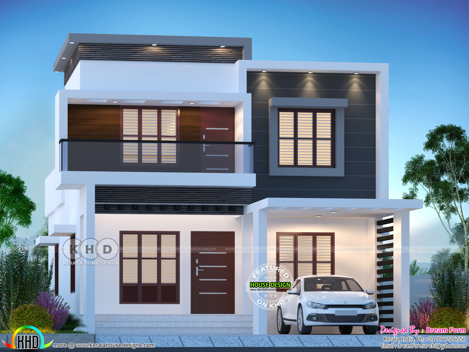 1775 Sq Ft 4 Bhk Modern Flat Roof House Kerala Home Design And Floor Plans 8000 Houses