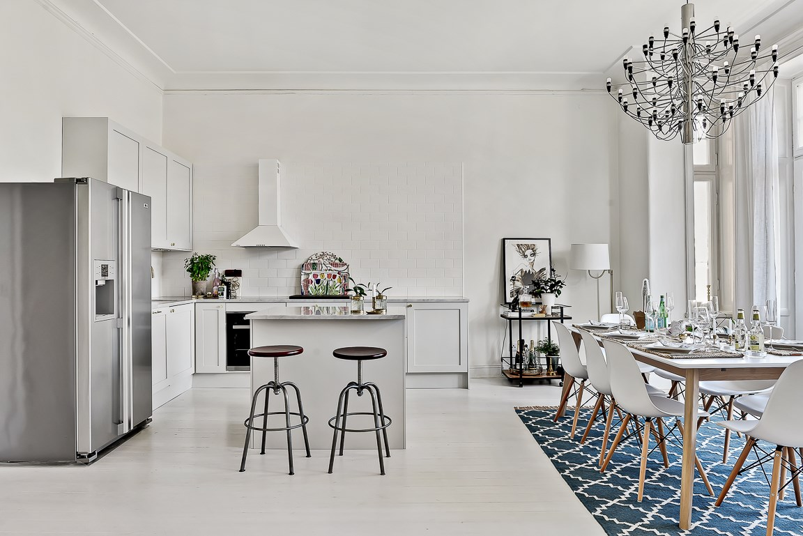 Eleganță și rafinament scandinav într-un apartament de 3 camere
