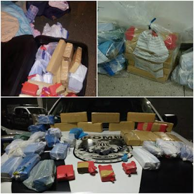 ROMU Goiânia - Flagrante de tráfico de drogas (21 Kg de Maconha )