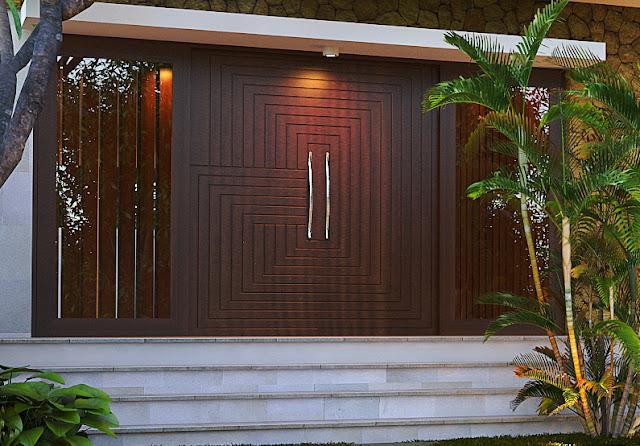 Contoh model pintu pada rumah berdesain minimalis yang elegan