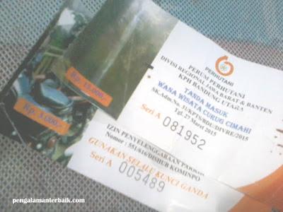 Harga tiket masuk Kawasan wisata Curug Tilu Leuwi Opat, Cimahi