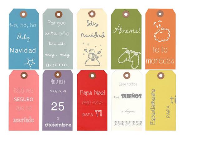 Una Pizca de Hogar: 10 etiquetas para regalos imprimibles y gratis