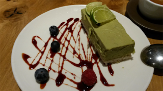 Avocado and lime cheese cake - Henderson's Edinburgh.