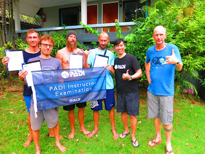 PADI IE on Koh Lanta for April 2017 has been very successfully completed