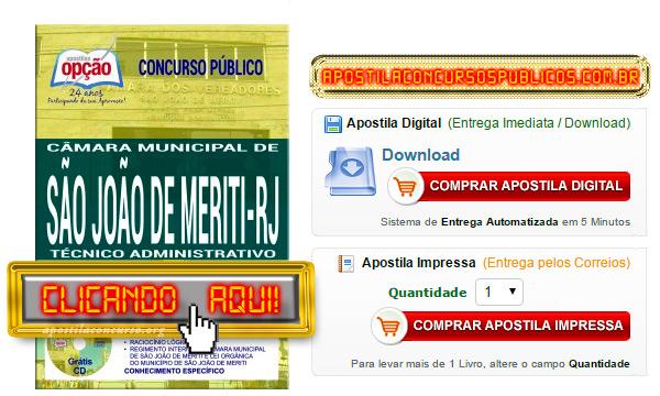 Apostila Concurso Câmara de São João de Meriti RJ 2017 PDF Técnico Administrativo