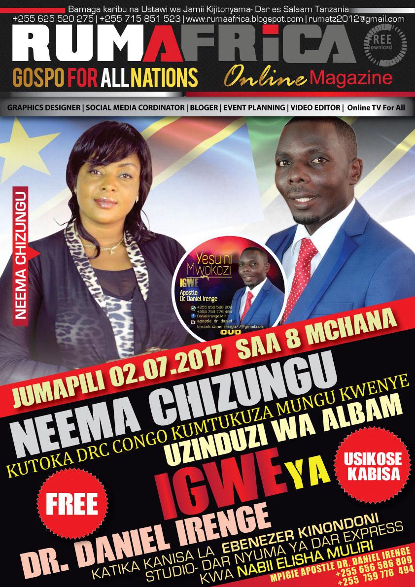 Rumafrica magazine neema chizungu kutoka kongo kushiriki Internet magasin