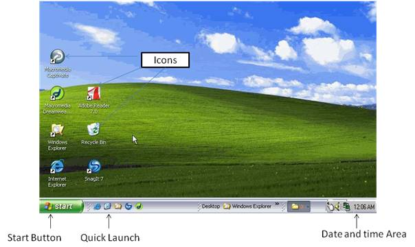 windows operating system desktop