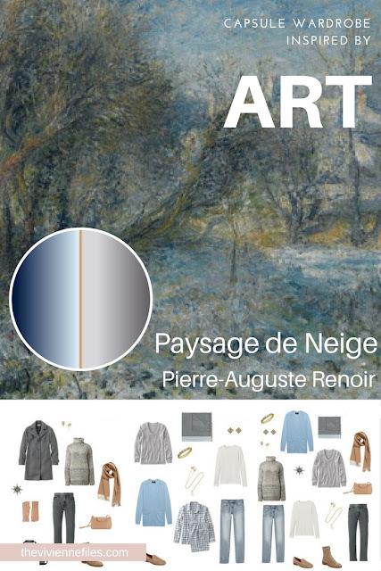 Paysage de Neige by Renoir - Start with Art to Assemble a Weekend Capsule Wardrobe