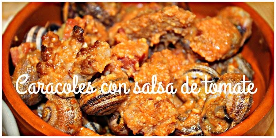 RECETAS DE CARACOLES CON SALSA DE TOMATE