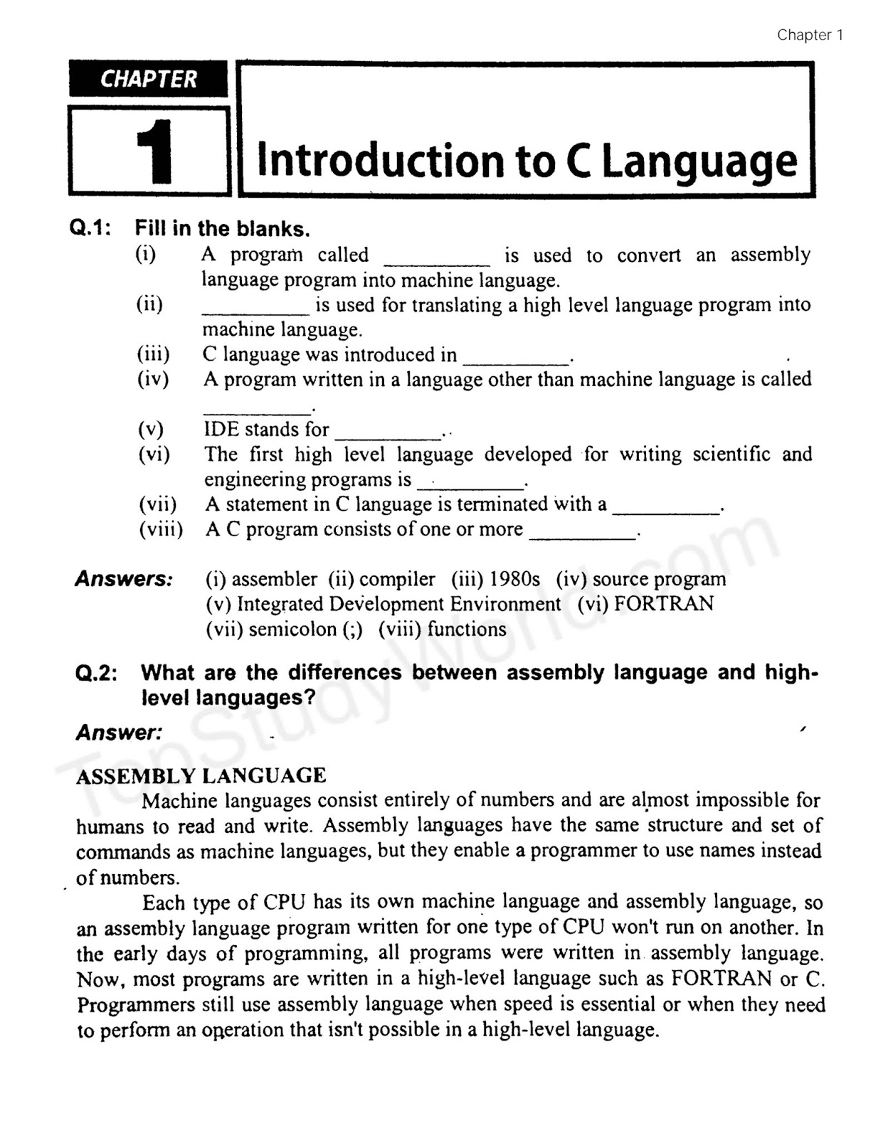 C Language Basic Concept Pdf