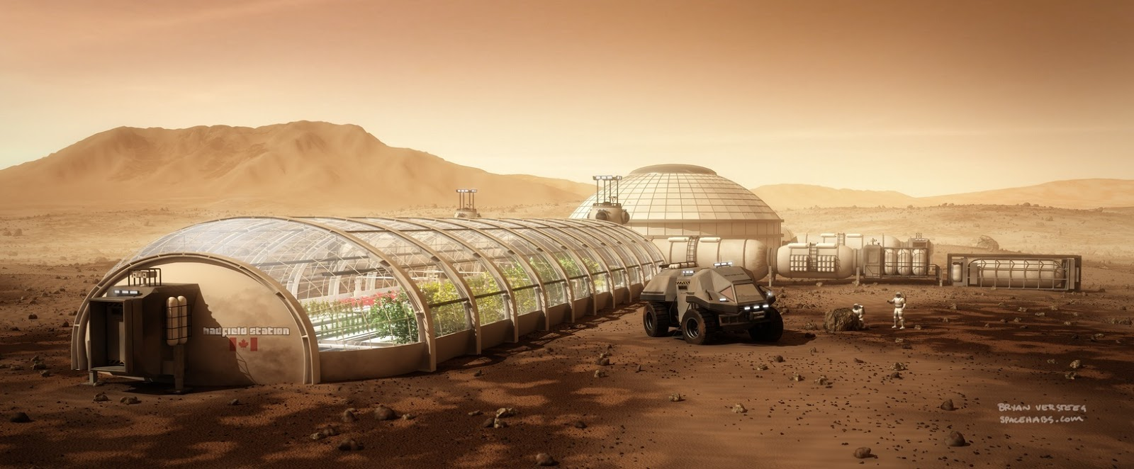 Mars Base by Bryan Versteeg