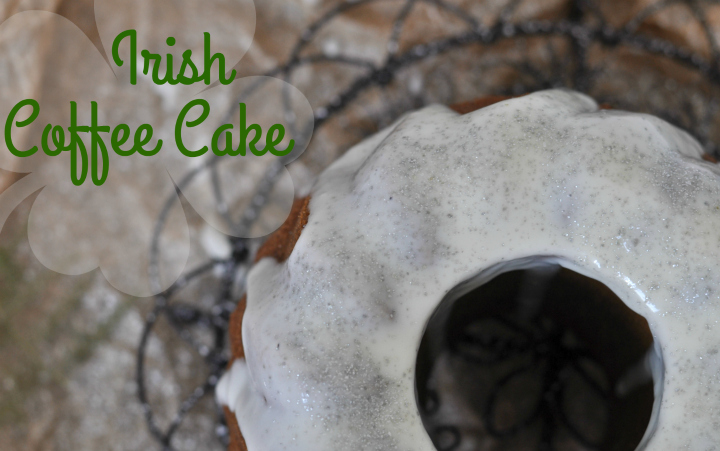 Irish Coffee Cake with creamy whisky glaze, glutenfree