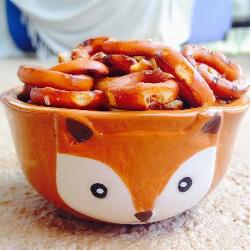Gluten Free Pretzels in a Cute Fox Bowl