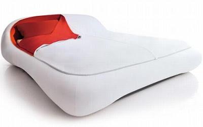 diseño de cama futurista