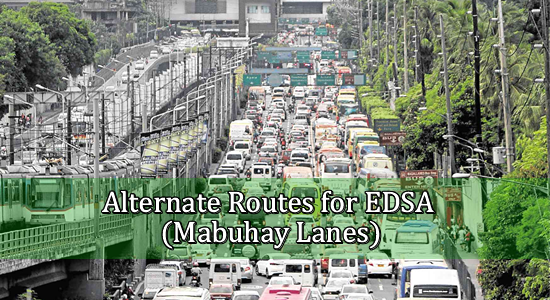 List of Alternate Routes for EDSA (Mabuhay Lanes)