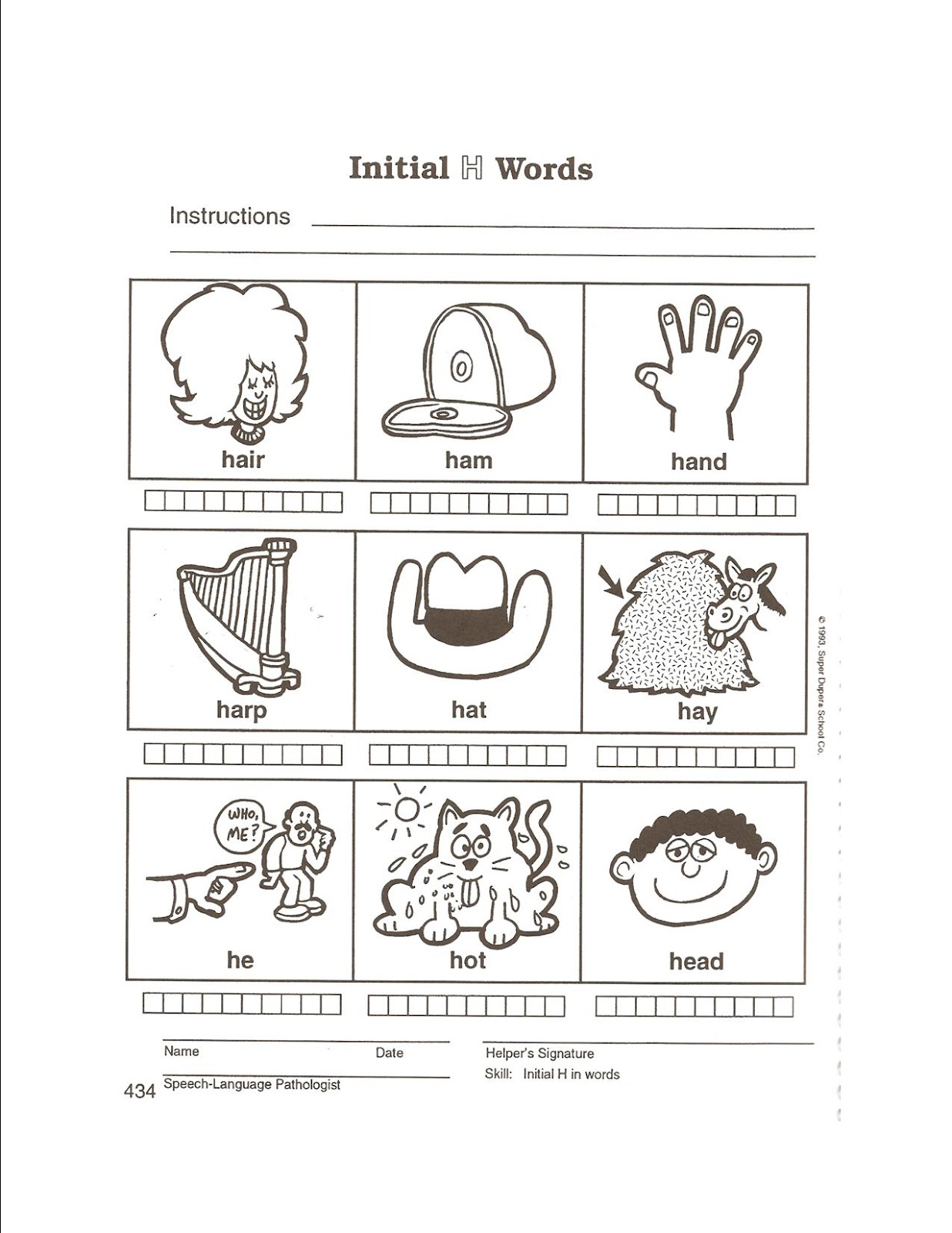 East Meadows Speech February Preschool Speech Homework Week 3