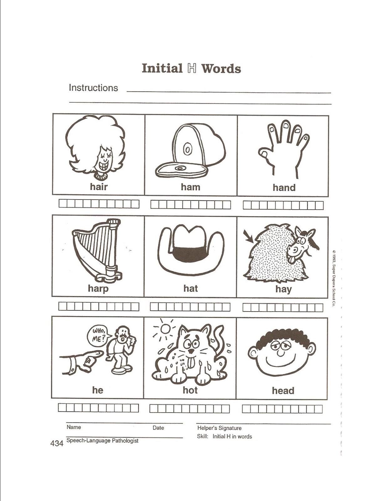 East Meadows Speech February Preschool Speech Homework Week 3